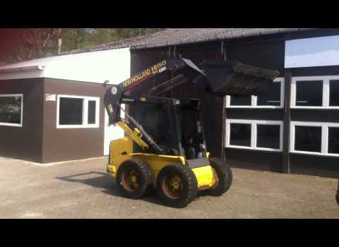 New Holland LS150 skid steer loader verkocht!